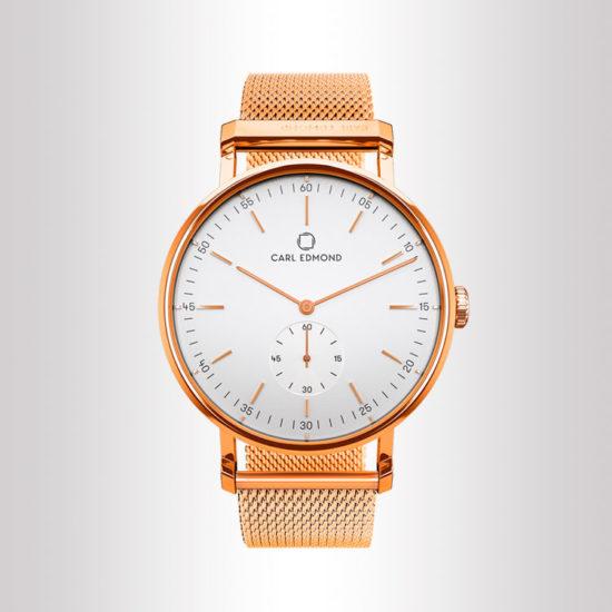 Carl Edmond orologio da donna in oro rosa con quadrante bianco