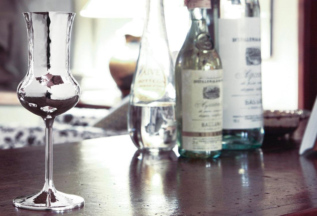 Bombonato argenteria bicchierini in argento Brandimarte