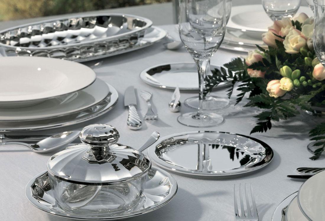 Bombonato argenteria da tavola in argento Greggio