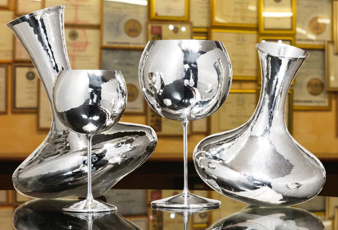 Bombonato argenteria decanter e ballon in argento Brandimarte