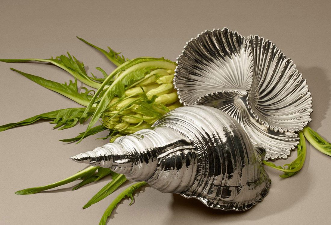 Bombonato argenteria per la casa conchiglie in argento buccellati