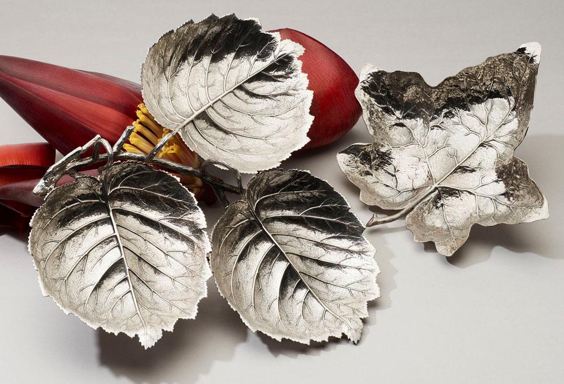 Bombonato-argenteria-per-la-casa-foglie-in-argento-buccellati