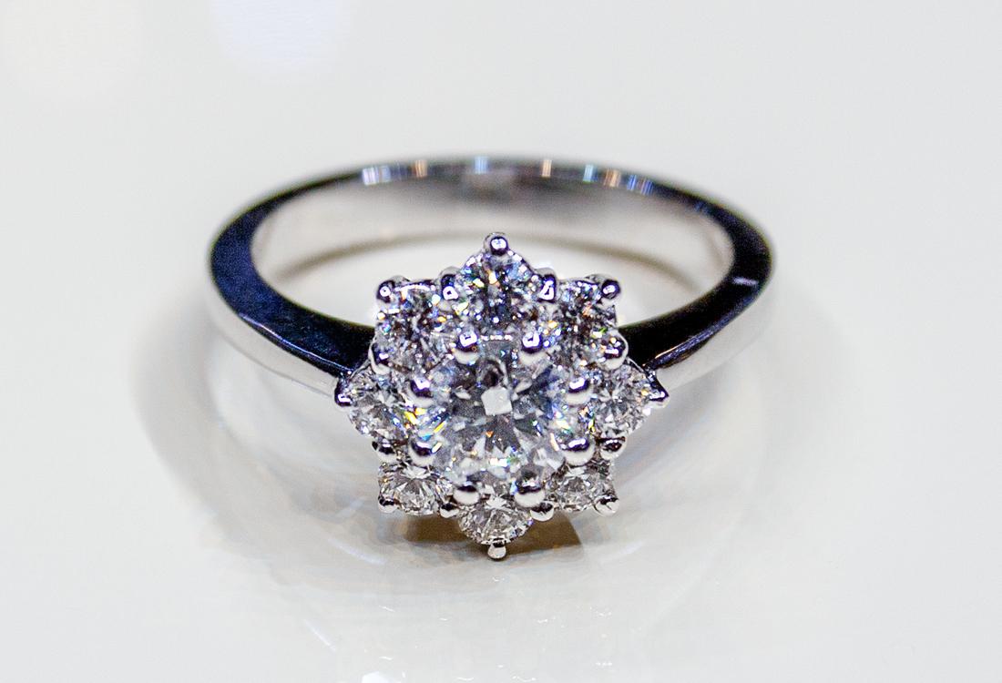 Uno splendido anello di fidanzamento