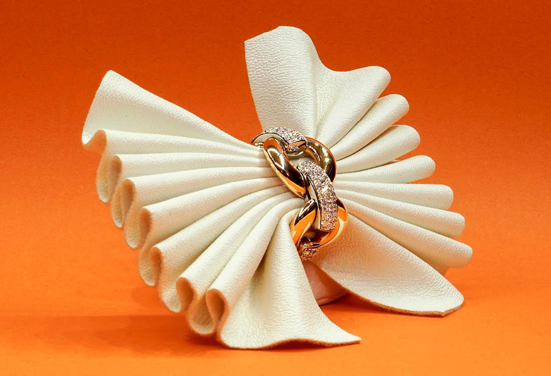 Anello in Oro Rosa, Oro bianco e diamanti